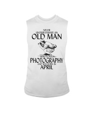 Never Underestimate Old Man Photography April Sleeveless Tee thumbnail