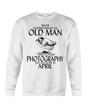 Never Underestimate Old Man Photography April Crewneck Sweatshirt thumbnail