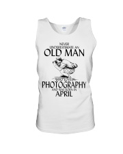 Never Underestimate Old Man Photography April Unisex Tank thumbnail