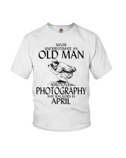 Never Underestimate Old Man Photography April Youth T-Shirt thumbnail