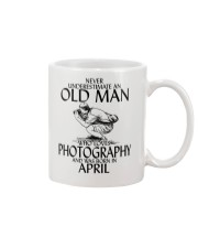 Never Underestimate Old Man Photography April Mug thumbnail