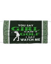 You Say Girl Can't Golf I Say Watch Me Cloth face mask thumbnail