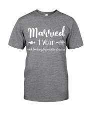 1 Year Married 1st Anniversary Classic T-Shirt front