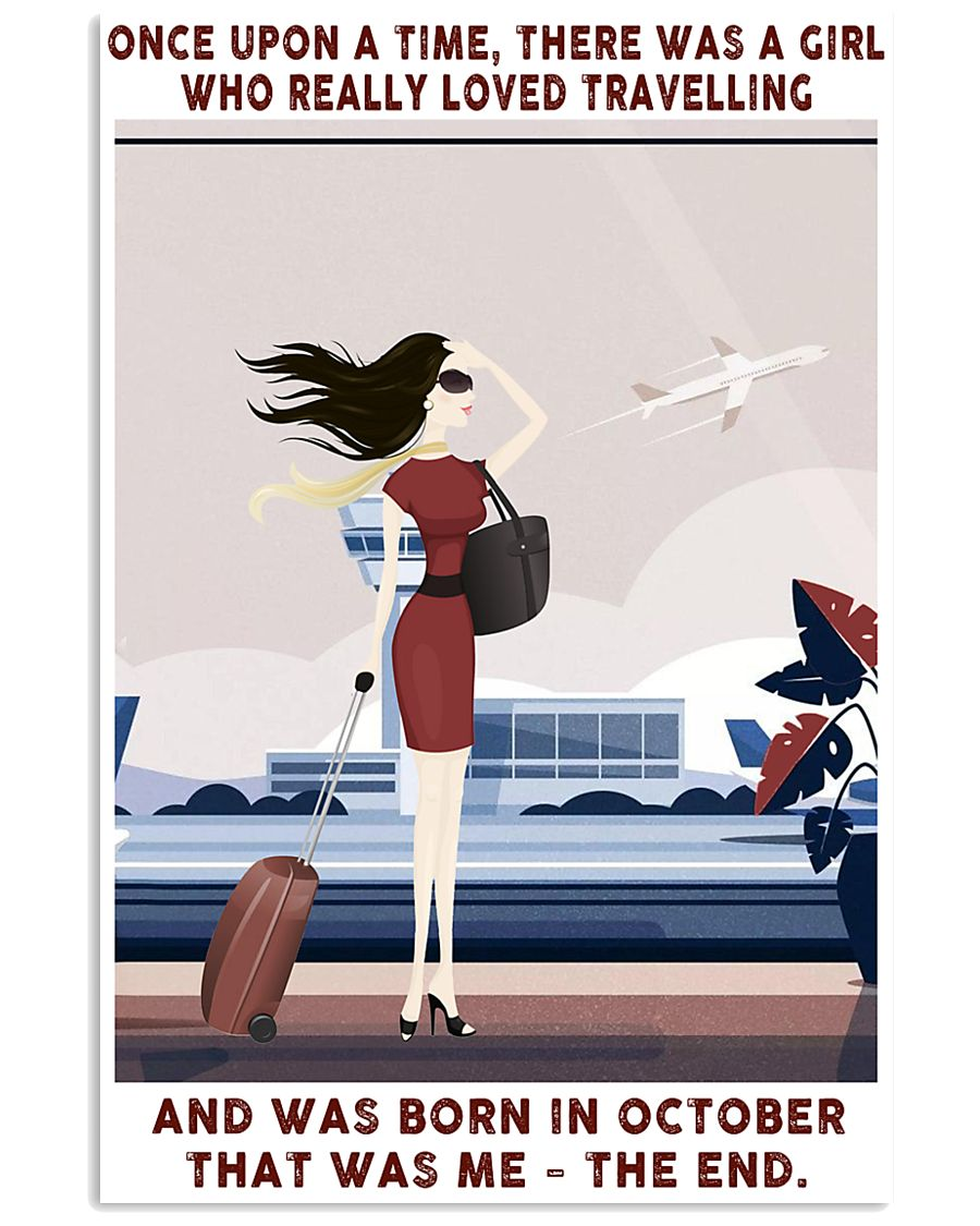 Girl Loved Travelling Born In October 24x36 Poster
