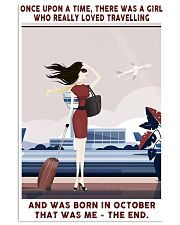 Girl Loved Travelling Born In October 24x36 Poster front