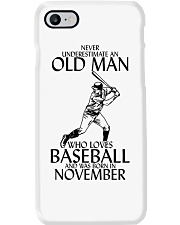 Never Underestimate Old Man Baseball November Phone Case thumbnail