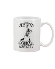 Never Underestimate Old Man Baseball November Mug thumbnail