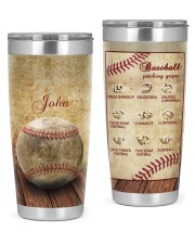 Baseball Pitching Personalized Christmas Gift 20oz Tumbler front