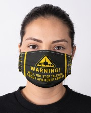 Warning will not stop talking about aviation Cloth Face Mask - 5 Pack aos-face-mask-lifestyle-01