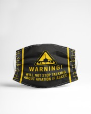 Warning will not stop talking about aviation Cloth Face Mask - 5 Pack aos-face-mask-lifestyle-22