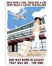 August Girl Loves Travelling 24x36 Poster front