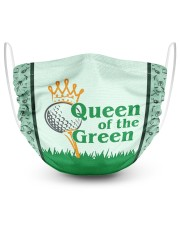 Queen Of The Green  2 Layer Face Mask - Single front