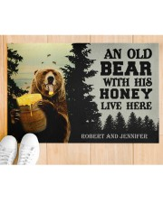 """An Old Bear With His Honey Live Here Personalized Doormat 22.5"""" x 15""""  aos-doormat-22-5x15-lifestyle-front-03"""