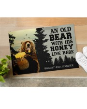 """An Old Bear With His Honey Live Here Personalized Doormat 22.5"""" x 15""""  aos-doormat-22-5x15-lifestyle-front-11"""