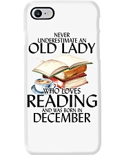 Never Underestimate Old Lady Reading December Phone Case thumbnail