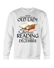 Never Underestimate Old Lady Reading December Crewneck Sweatshirt thumbnail