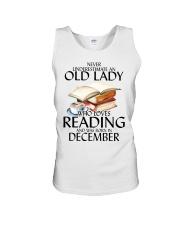 Never Underestimate Old Lady Reading December Unisex Tank thumbnail