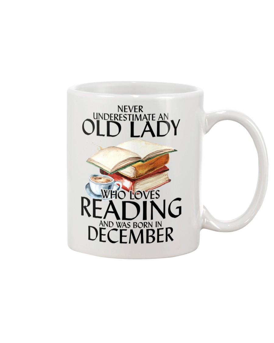 Never Underestimate Old Lady Reading December Mug