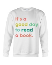 It's A Good Day To Read A Book Crewneck Sweatshirt thumbnail