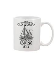 Never Underestimate Old Woman Sailing July Mug thumbnail