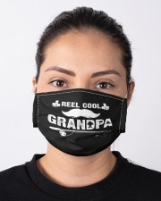 Fishing grandpa shirt funny dad fathers day  Cloth face mask aos-face-mask-lifestyle-01