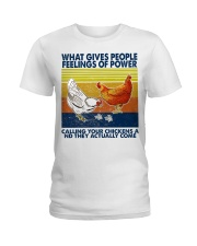 Chicken What Gives People Feeling Of Power Ladies T-Shirt thumbnail