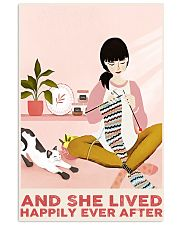Knitting And She Lived Happily Ever After 24x36 Poster front