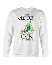 Never Underestimate Old Man Hiking September Crewneck Sweatshirt thumbnail