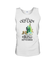 Never Underestimate Old Man Hiking September Unisex Tank thumbnail