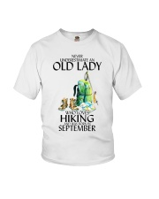 Never Underestimate Old Man Hiking September Youth T-Shirt thumbnail