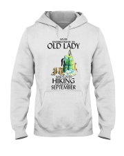 Never Underestimate Old Man Hiking September Hooded Sweatshirt thumbnail