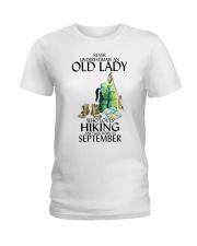 Never Underestimate Old Man Hiking September Ladies T-Shirt thumbnail