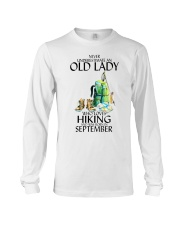 Never Underestimate Old Man Hiking September Long Sleeve Tee thumbnail
