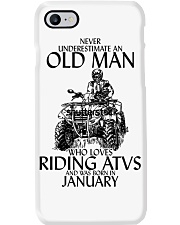 Never Underestimate Old Man ATVs January Phone Case thumbnail