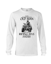 Never Underestimate Old Man ATVs January Long Sleeve Tee thumbnail