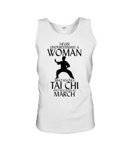 Never Underestimate Woman Tai Chi March Unisex Tank thumbnail