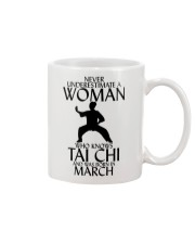 Never Underestimate Woman Tai Chi March Mug thumbnail