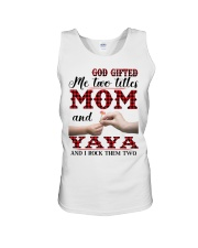 God Gifted Me Two Titles Mom And Yaya Unisex Tank thumbnail