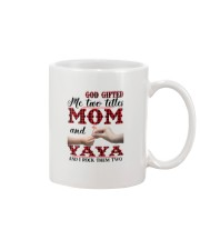 God Gifted Me Two Titles Mom And Yaya Mug tile