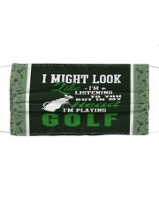 I Might Look Like I'm Listening To you-Golf Cloth face mask thumbnail