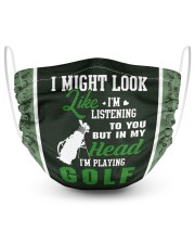 I Might Look Like I'm Listening To you-Golf 2 Layer Face Mask - Single front
