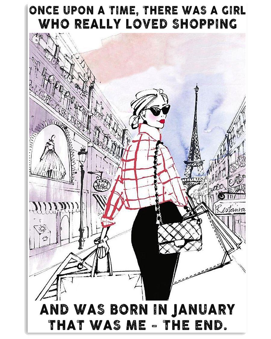 January Girl-Shopping 24x36 Poster