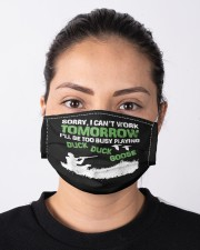 Hunter too busy playing duck duck goose hunting  Cloth face mask aos-face-mask-lifestyle-01