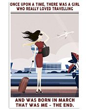 Girl Loved Travelling Born In March 24x36 Poster front