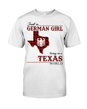 Just A German Girl In Texas World Classic T-Shirt front