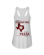 Just A German Girl In Texas World Ladies Flowy Tank thumbnail