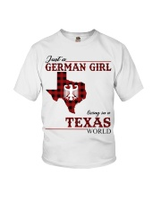 Just A German Girl In Texas World Youth T-Shirt thumbnail