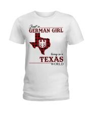 Just A German Girl In Texas World Ladies T-Shirt thumbnail