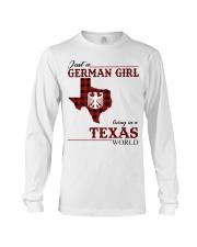 Just A German Girl In Texas World Long Sleeve Tee thumbnail