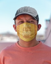 Talk Less Smile More Cloth face mask aos-face-mask-lifestyle-06